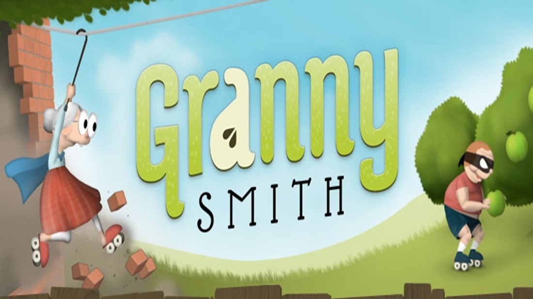 Granny Smith Game! apples, a thief is stealing from her garden