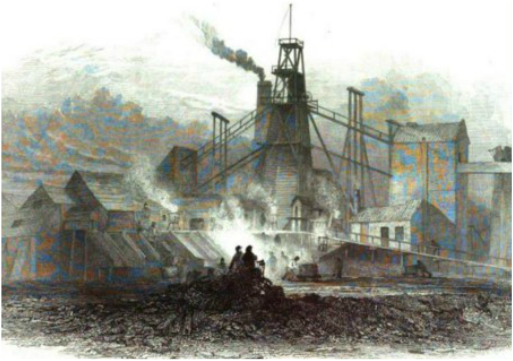Fire at Percy Main Colliery