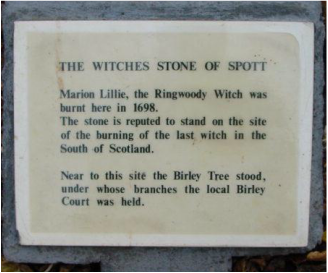 WITCHES STONE OF SPOTT, East Lothian