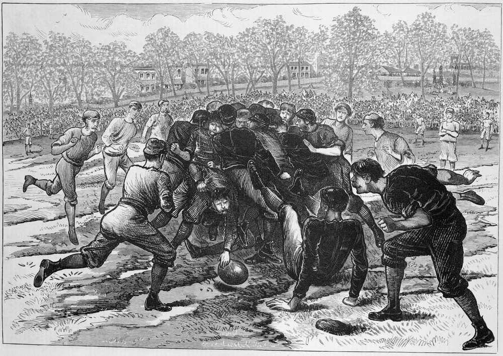 Aussie football match 1874