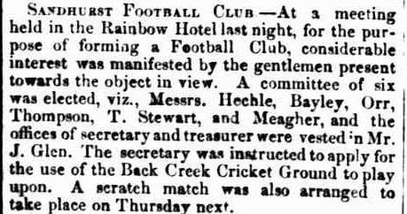 Sandhurst Football Club 1863