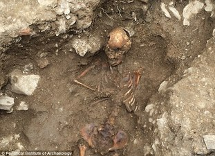grave of a medieval 'witch'