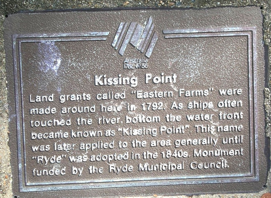 KISSING POINT, RYDE, N.S.W. Land grants from 1792