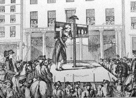 Mark Lane, London, 1783. Christopher Atkinson in the pillory outside the Corn Exchange, London