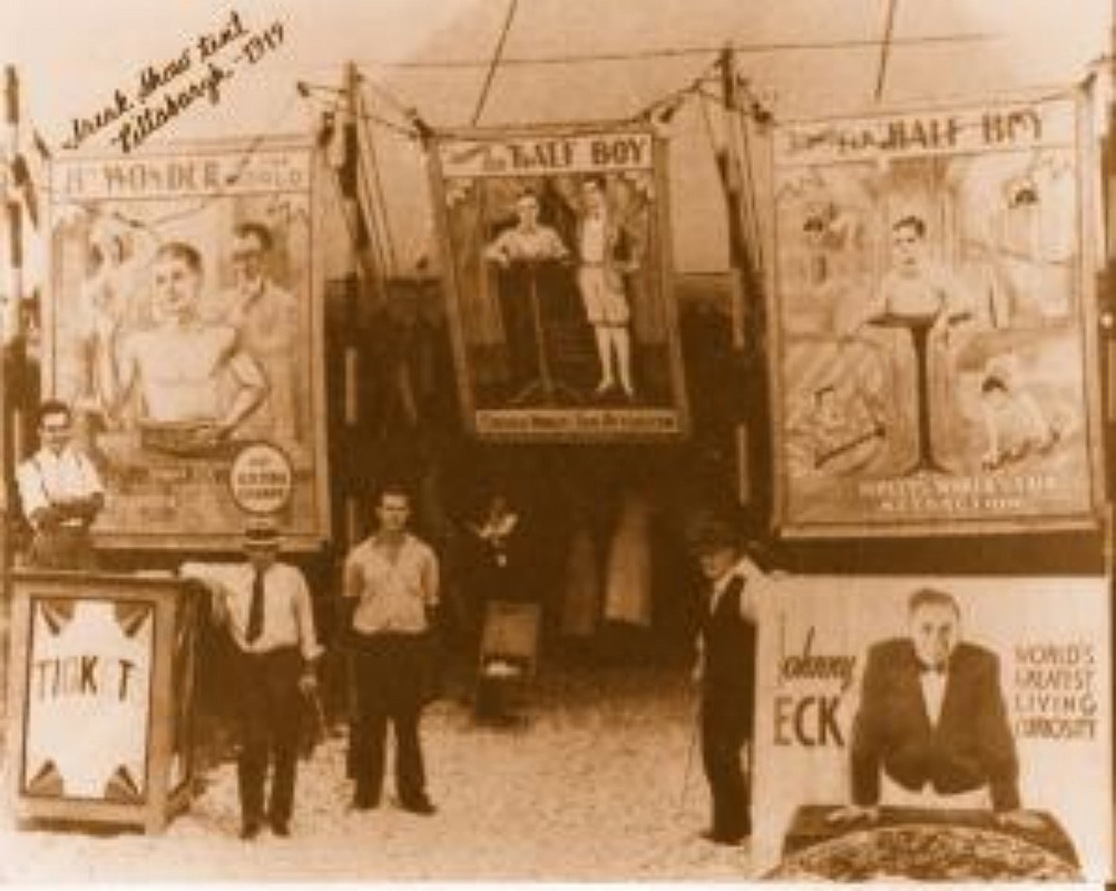 Freak Shows- Abnormality was a meal ticket!