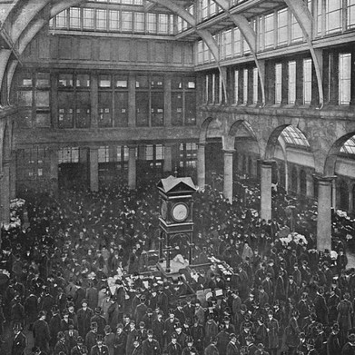 Corn exchange London, 1900