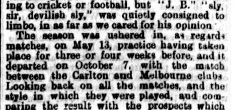 Carlton & Melbourne football club 1871