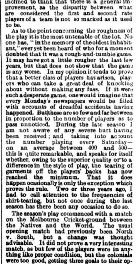 Summary of the Victorian football season 1871