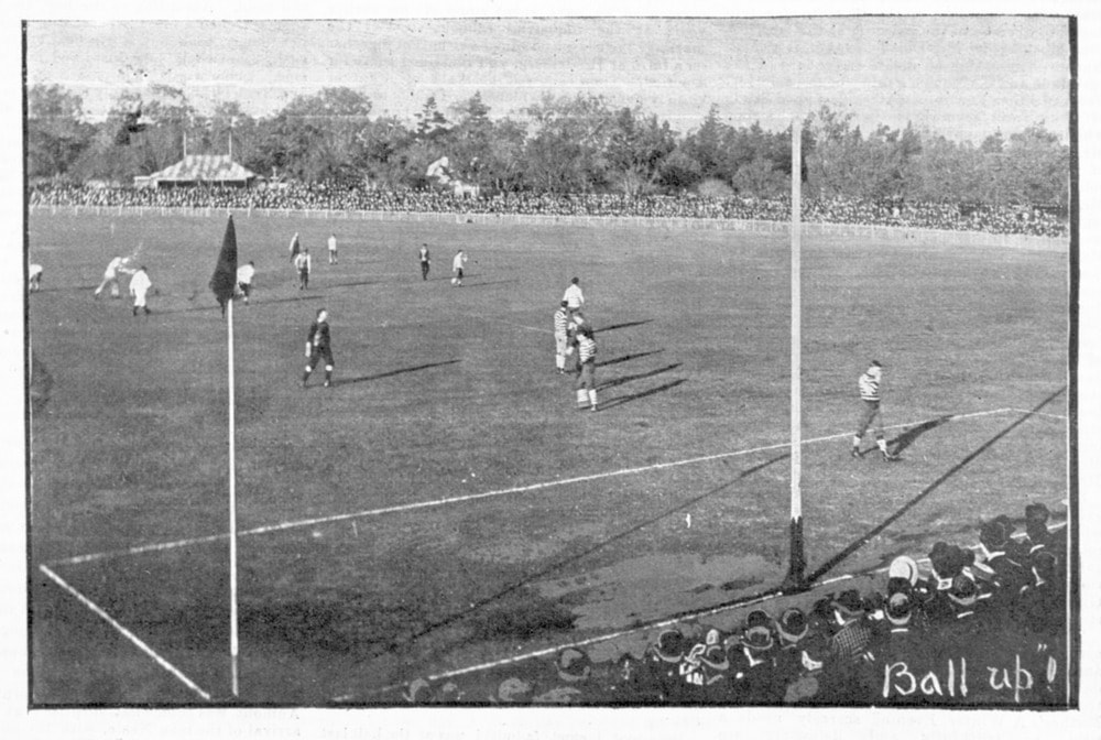 Ball up! 1895 Aussie Rules Football