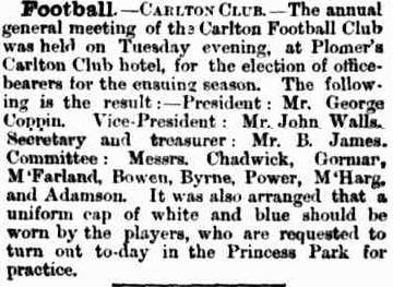 Carlton Football club 1866