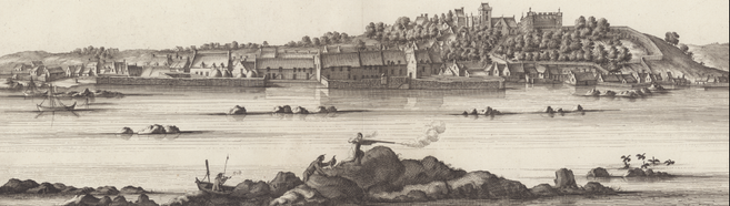 Slezer's View of Culross from Theatrum Scotiae, 1693