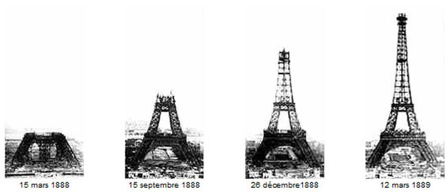 Eiffel Tower in Paris, finished in 1889
