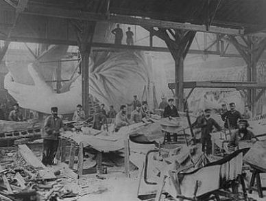 In 1876 French artisans and craftsmen began constructing the Statue of Liberty