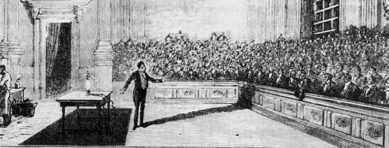 Demonstration by Humphrey Davy Theatre of the Royal Institute