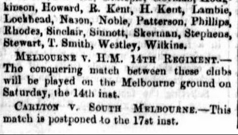 South Melbourne Football Club, Grammer Schools F.C/ 1867