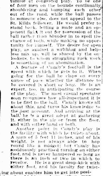 Football Roy Cazaly 1919