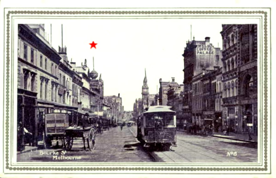 Old Photo Bourke Street Melbourne