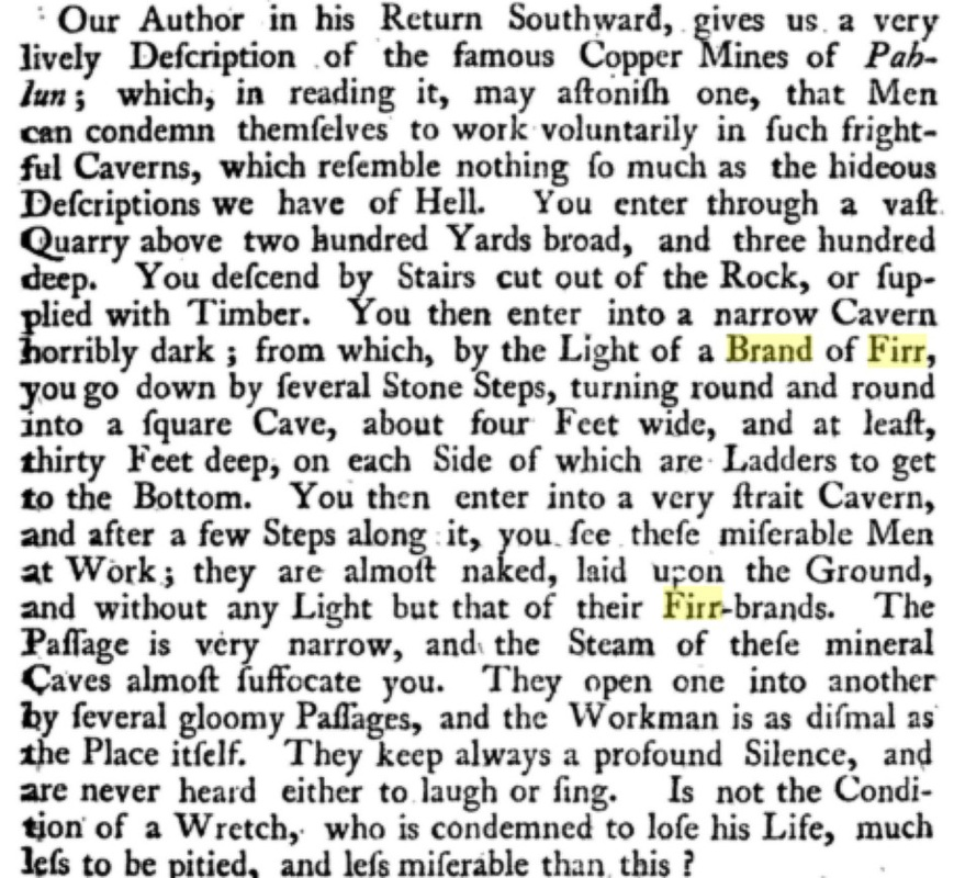 Copper Miners in 1746 Firr-brand