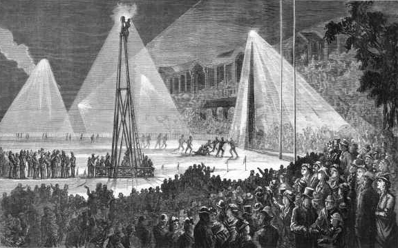Moonlight Towers Melbourne Cricket Ground, for Football Match 1879