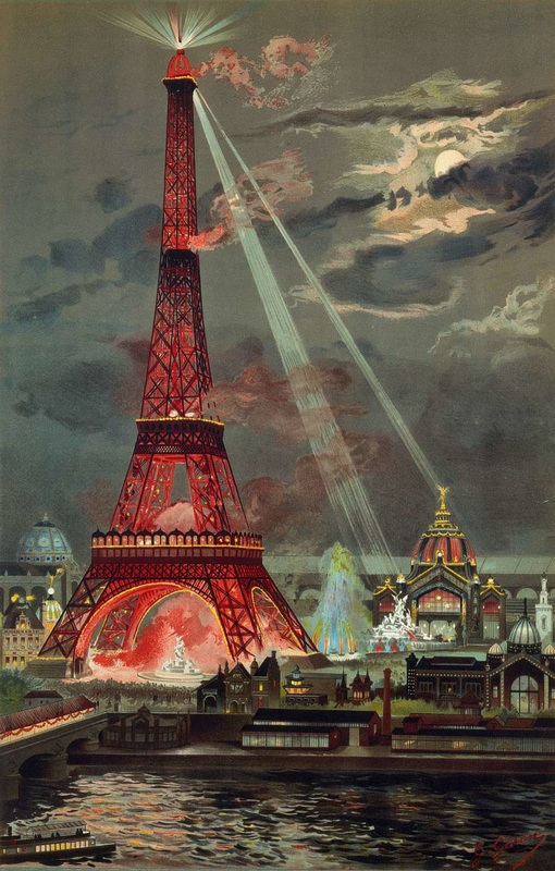 The Eiffel Tower was the Centre Piece for the 1889 Paris Exposition