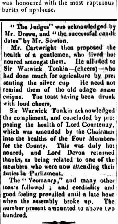 HAWKESBURY PLOUGHING MATCH​ NSW 1845