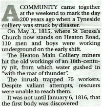 Heaton Main Colliery Disaster