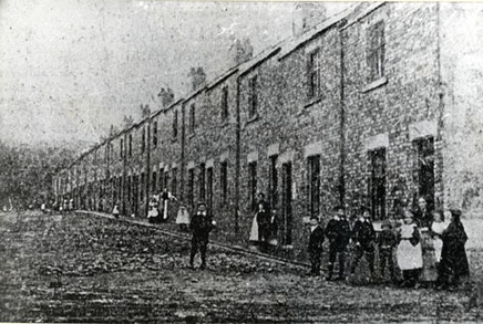 Easington Children playing in the street ca.1890
