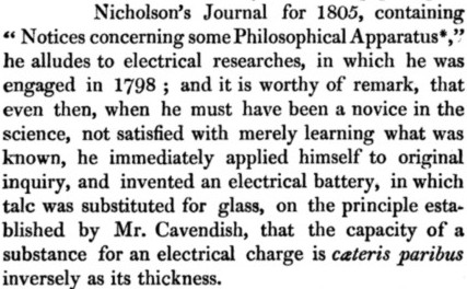 Electrical Battery 1798