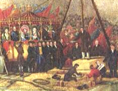 ​John Buddle Lord Londonderry silver trowel ​at laying of foundation stone (Seaham Harbour) 1828