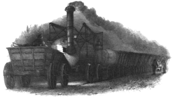 Locomotive at Wylam Colliery