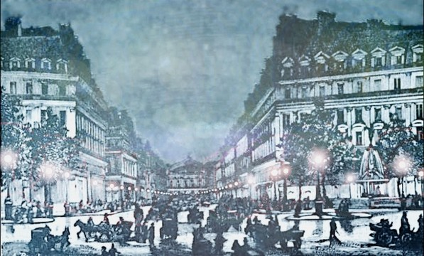 Avenue de l'Opera and the Place de l'Opera Arc Lights 1878