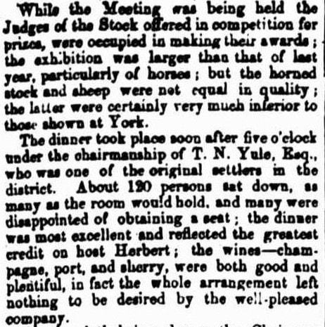 Toodyay Agricultural Meeting. W.A. 1855