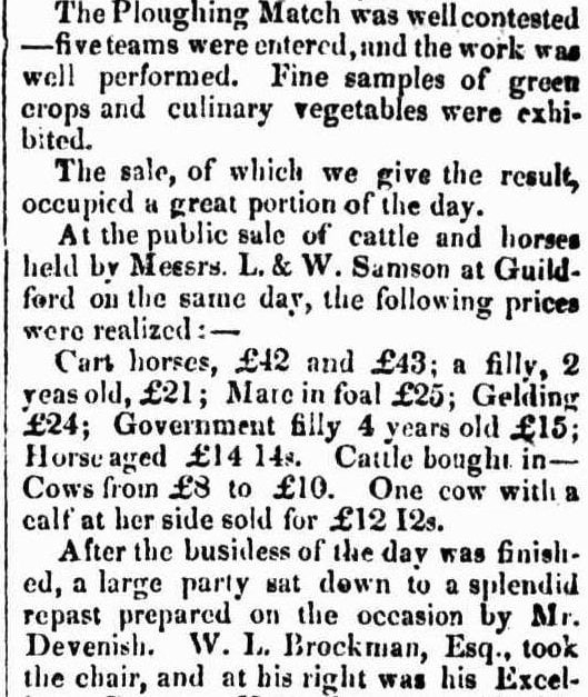 CATTLE SHOW AND FAIR​ W.A. 1843