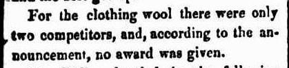 AGRICULTURAL SOCIETY WOOL PRIZES W.A. 1844