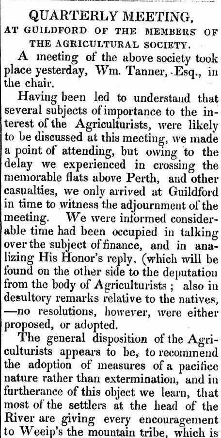 GUILDFORD AGRICULTURAL SOCIETY W.A. 1833