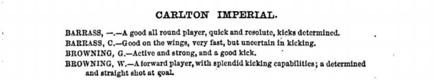 Carlton Imperial Football players 1875