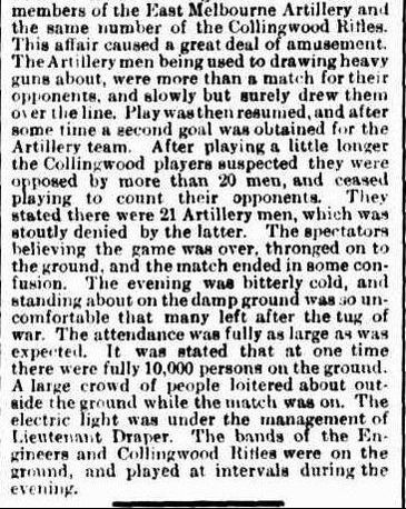 Victorian Football by Electric Light 1879