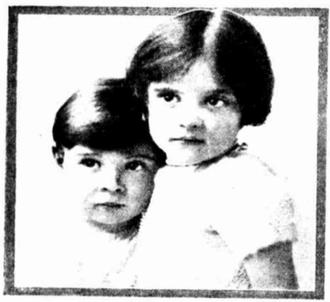 Burlington study of the little son and daughter of Mr and Mrs Hudson, of Port Melbourne