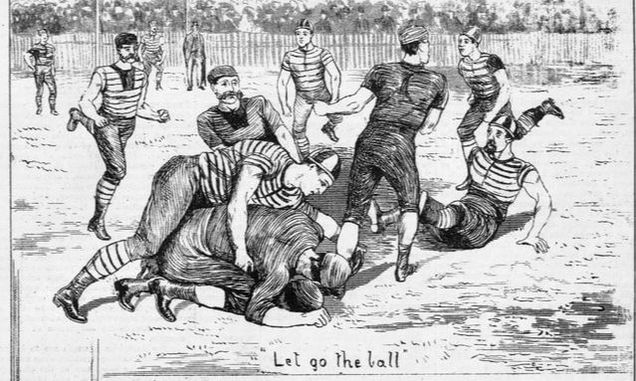Geelong v Melbourne football 1880