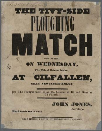 Ploughing Match Advertisement 1842