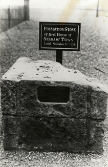 Seaham Town Foundation Stone