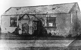 Tudhoe School building, shortly before demolition around 1913