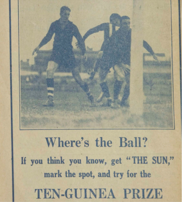 Football competition in 'The Sun' Newspaper, Victoria, 1931