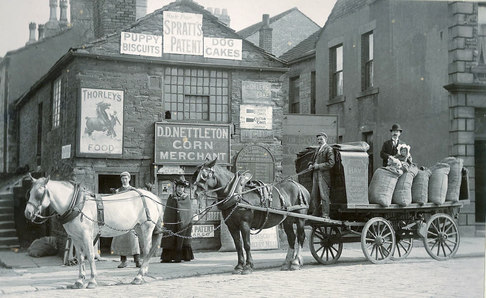 David Nettleton's, Corn Merchant's business, which was located in Town End, Ossett