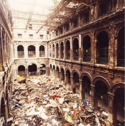 A fire badly damaged the Postal Hall of the Melbourne GPO in Aug. 2001