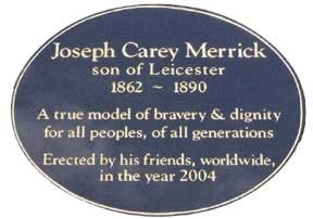 Joseph Carey Merrick Plaque